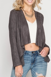 She + Sky Suede Open Blazer - Product Mini Image