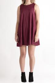 She + Sky Vegan Suede Shift Dress - Front full body