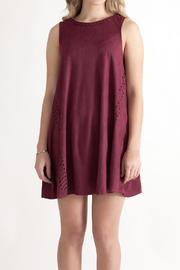She + Sky Vegan Suede Shift Dress - Front cropped