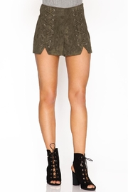 She + Sky Suede Shorts - Product Mini Image