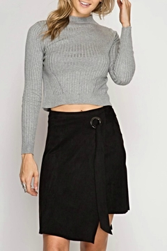 Shoptiques Product: Suede Tie Skirt