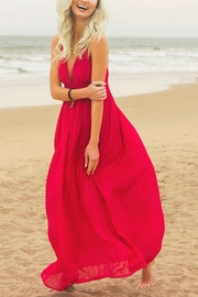 She + Sky Summer Crimson Maxi Dress - Front cropped