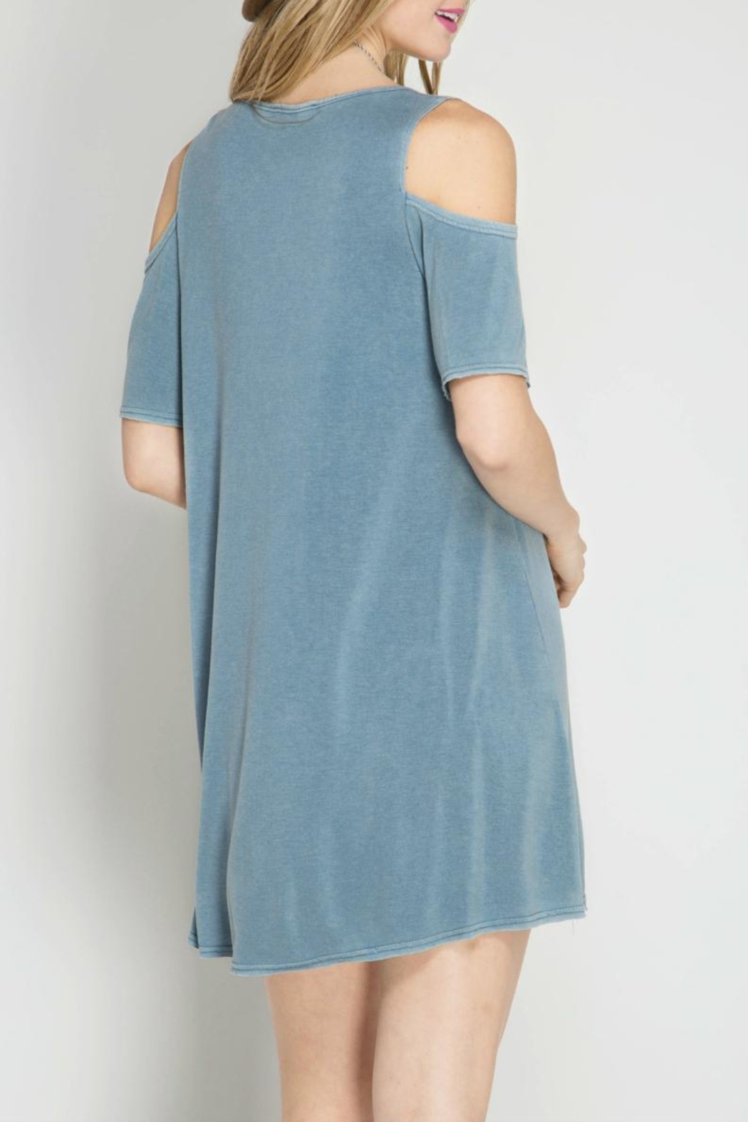 She + Sky Summer Shift Dress - Front Full Image