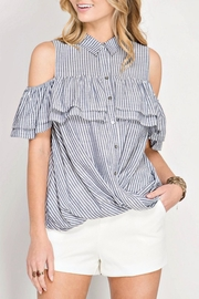 She + Sky Summer Stripe Ruffle - Product Mini Image
