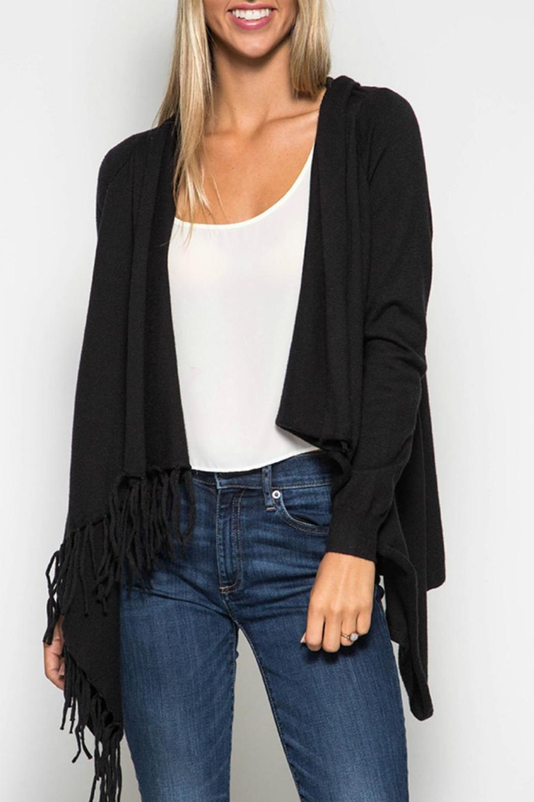 She + Sky Sweater Cardigan Wrap - Front Cropped Image