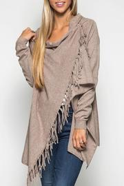 She + Sky Sweater Cardigan Wrap - Front cropped