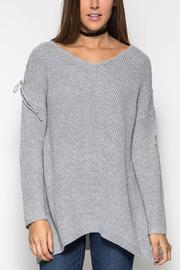 She + Sky Sweater With Lace - Product Mini Image