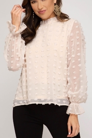 She + Sky Swiss Dot Blouse - Front cropped