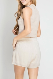 She + Sky Tassel Shorts - Front full body