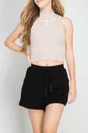 She + Sky Tassel Shorts - Front cropped
