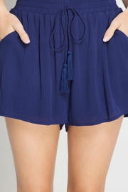She + Sky Tassel Shorts - Back cropped
