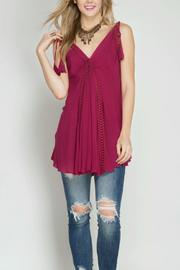 She + Sky Tassel Tie Tunic Tank - Product Mini Image