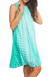 She + Sky Teal Dye Dress - Front cropped