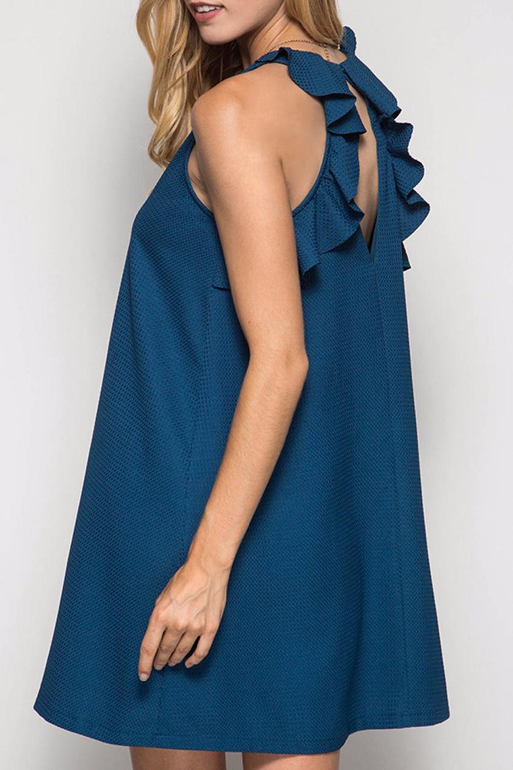 She + Sky Teal Swing Dress - Front Cropped Image