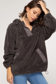 She + Sky Teddy Bear Hoodie - Front cropped