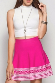 She + Sky Patterned Skirt - Front cropped