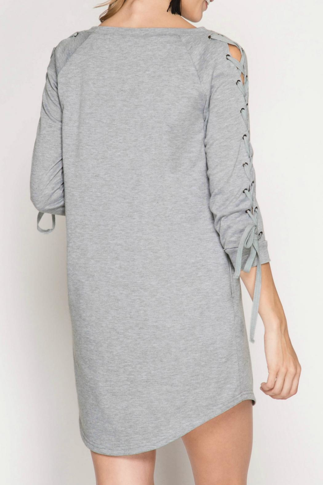 She + Sky Terry Knit Dress - Front Full Image