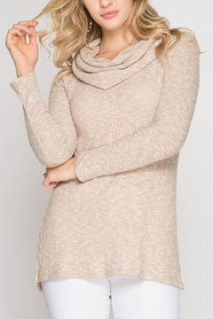 She + Sky Textured Cowl Top - Product List Image