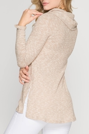 She + Sky Textured Cowl Top - Side cropped