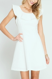 She + Sky Textured White Dress - Product Mini Image