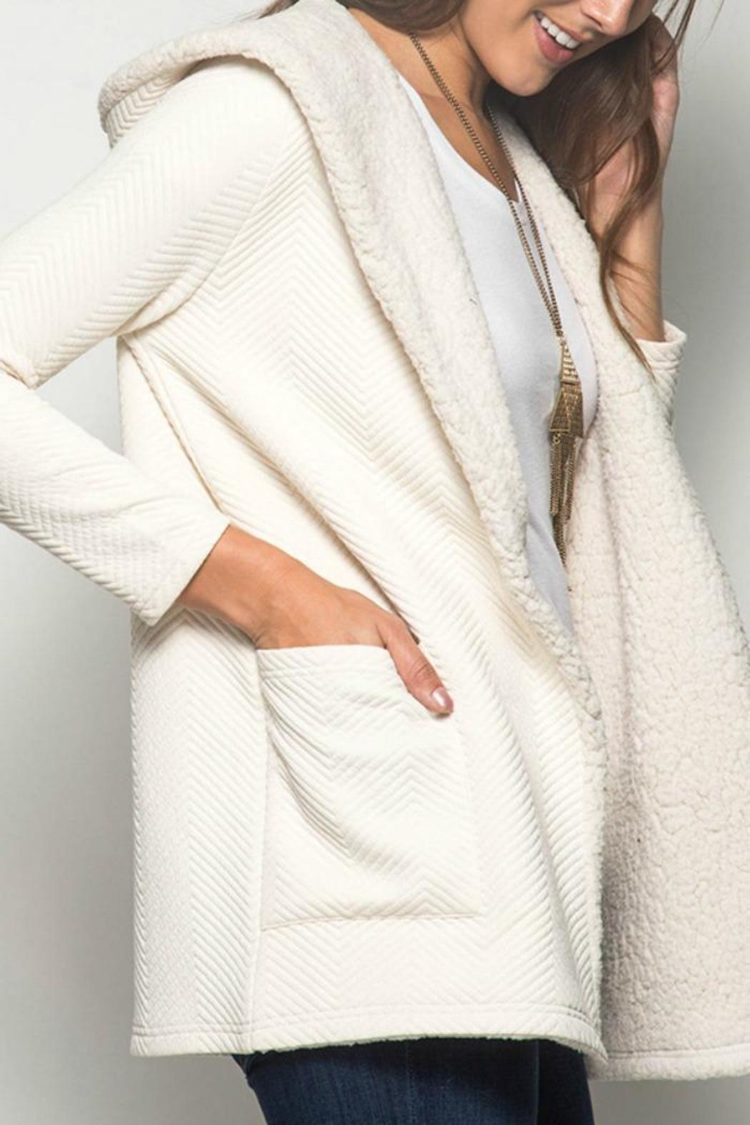 She   Sky Textured Hooded Cardigan from New York by Gado-Gado ...