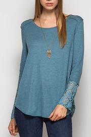 She + Sky Textured Lace Top - Product Mini Image