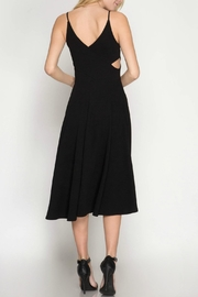 She + Sky Textured Midi Dress - Front full body