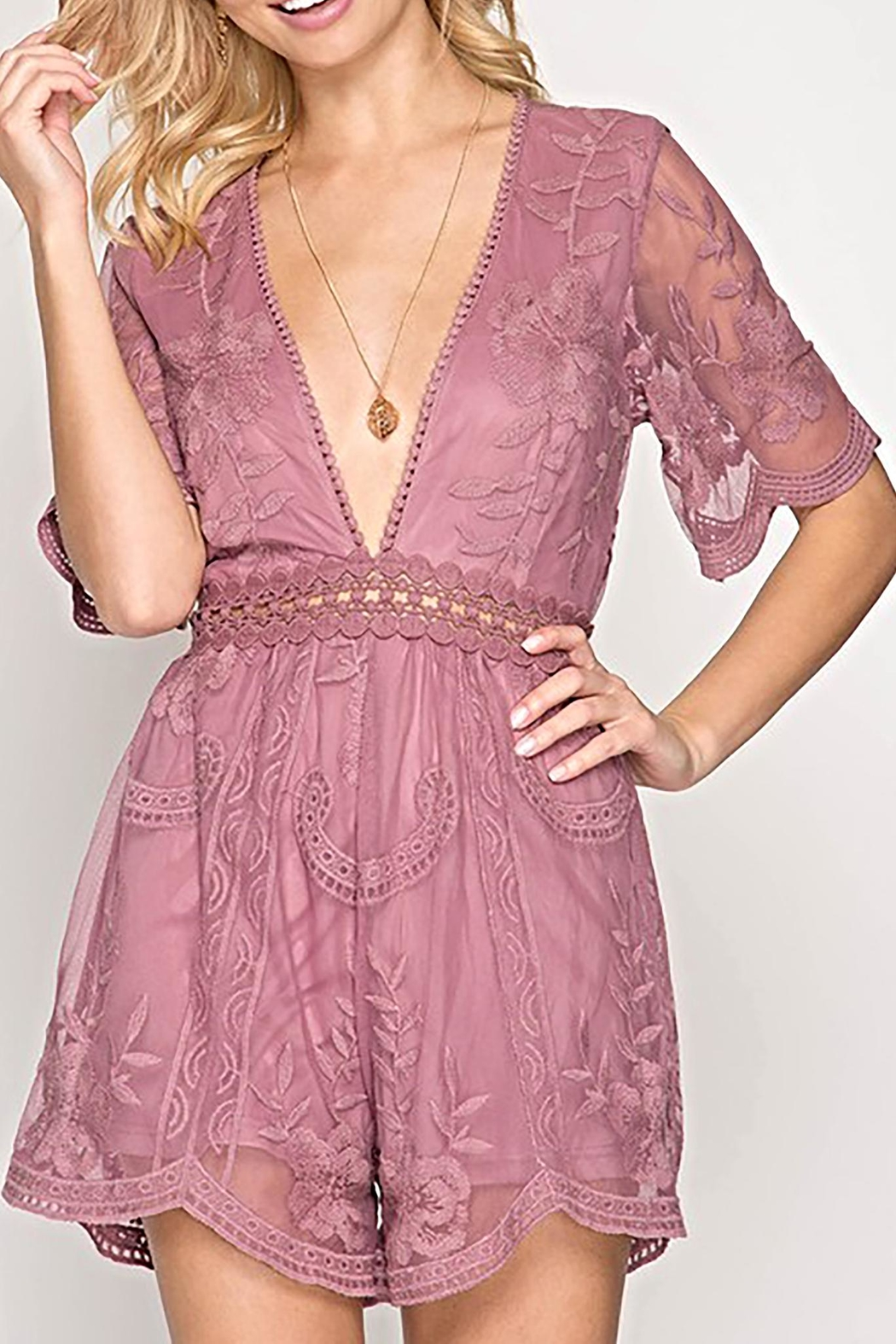 She + Sky The Bethany Romper - Front Cropped Image