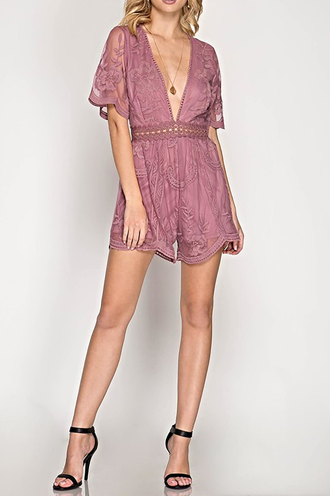 She + Sky The Bethany Romper - Back Cropped Image