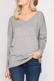 She + Sky The Boyfriend Sweater - Front cropped