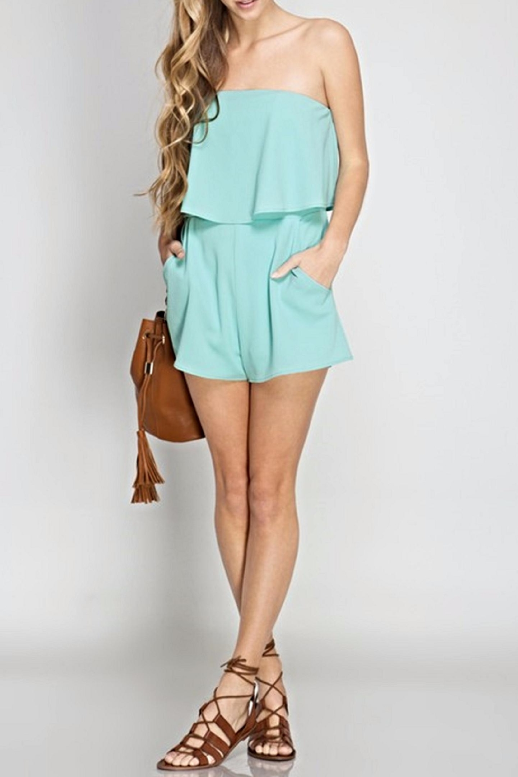 She + Sky The Sia Romper - Back Cropped Image