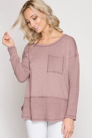 She + Sky Thermal Contrast Top - Product Mini Image