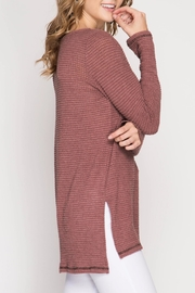 She + Sky Thermal Top - Back cropped