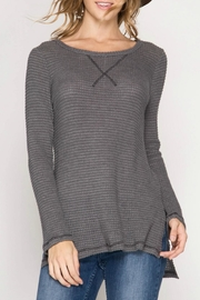 She + Sky Thermal Top - Front cropped