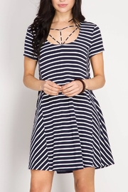 She + Sky Think Nautical Dress - Product Mini Image