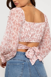 She + Sky Tie Back Crop Top - Side cropped