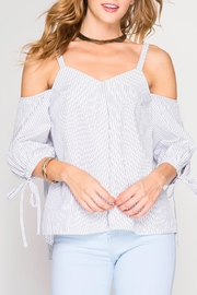 She + Sky Tie Back Top - Product Mini Image
