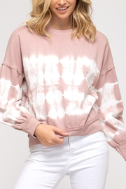 She + Sky Tie-Dye Balloon Sleeve Top - Product Mini Image