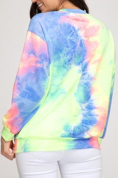 She + Sky Tie-Dye Lightweight Sweatshirt - Alternate List Image