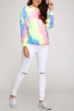 She + Sky Tie-Dye Lightweight Sweatshirt - Product List Image