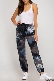 She + Sky Tie Dye Sweatpant - Front cropped