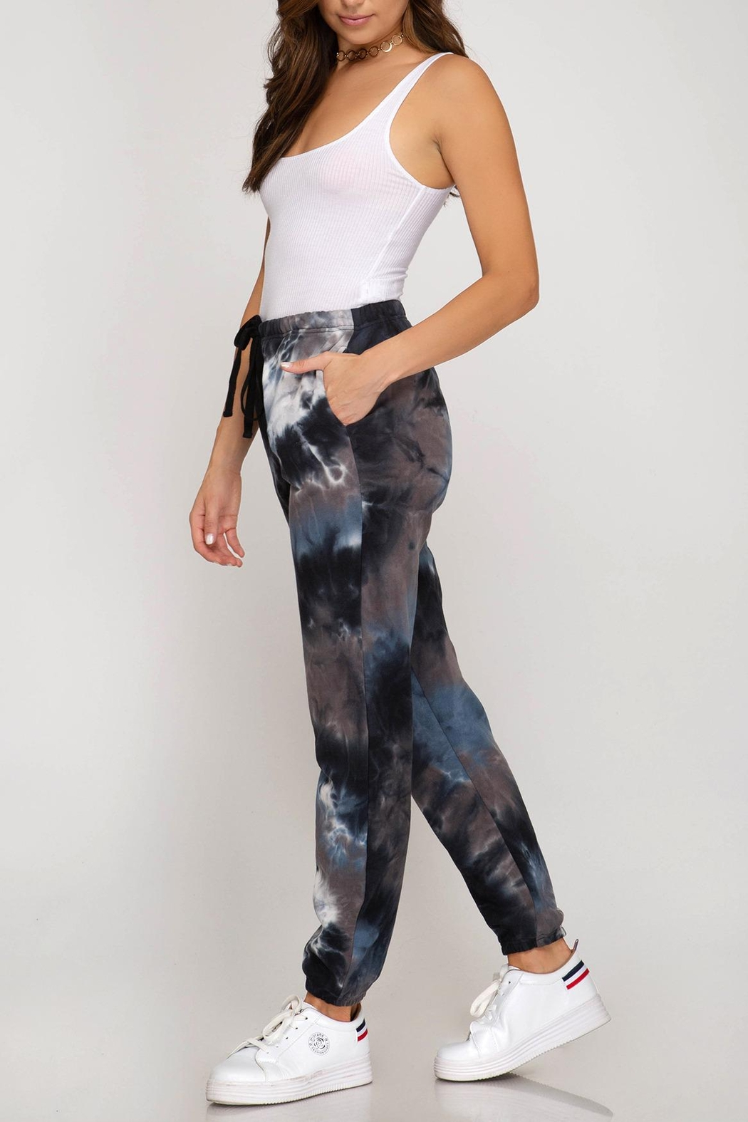 She + Sky Tie Dye Sweatpant - Front Full Image