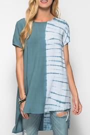 She + Sky Tie Dye Tunic - Front cropped
