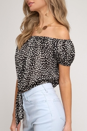 She + Sky Tie Front Crop-Top - Side cropped
