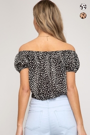 She + Sky Tie Front Crop-Top - Back cropped