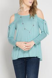 She + Sky Tie Shoulder Top - Product Mini Image
