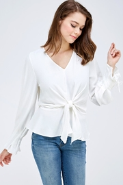 She + Sky Tie Sleeve Blouse - Product Mini Image
