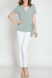 She + Sky Faux Wrap Top - Product Mini Image