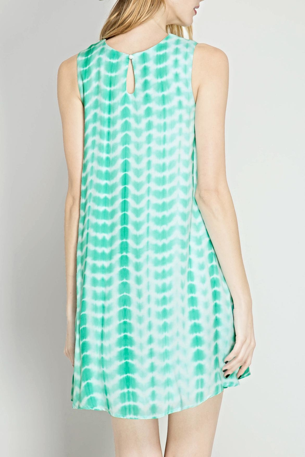 She + Sky Tie Dye Flare Dress - Front Full Image