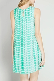 She + Sky Tie Dye Flare Dress - Front full body